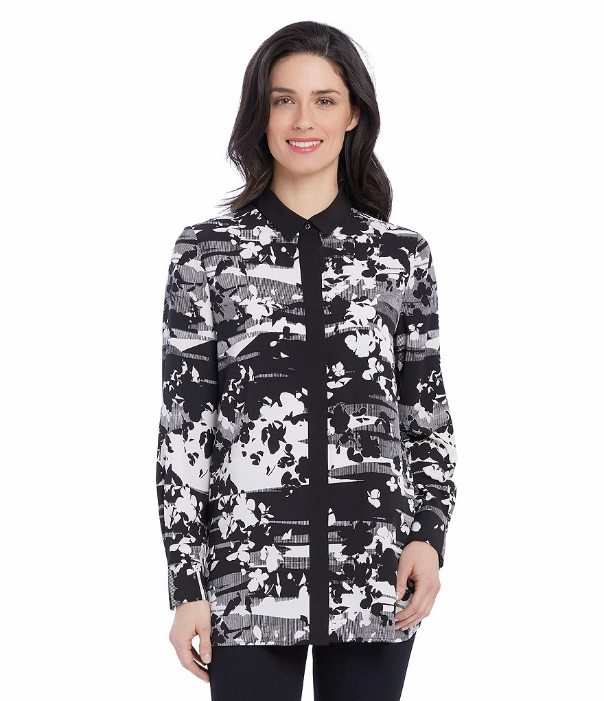 Ellen Tracy Long Sleeve Boyfriend Shirt