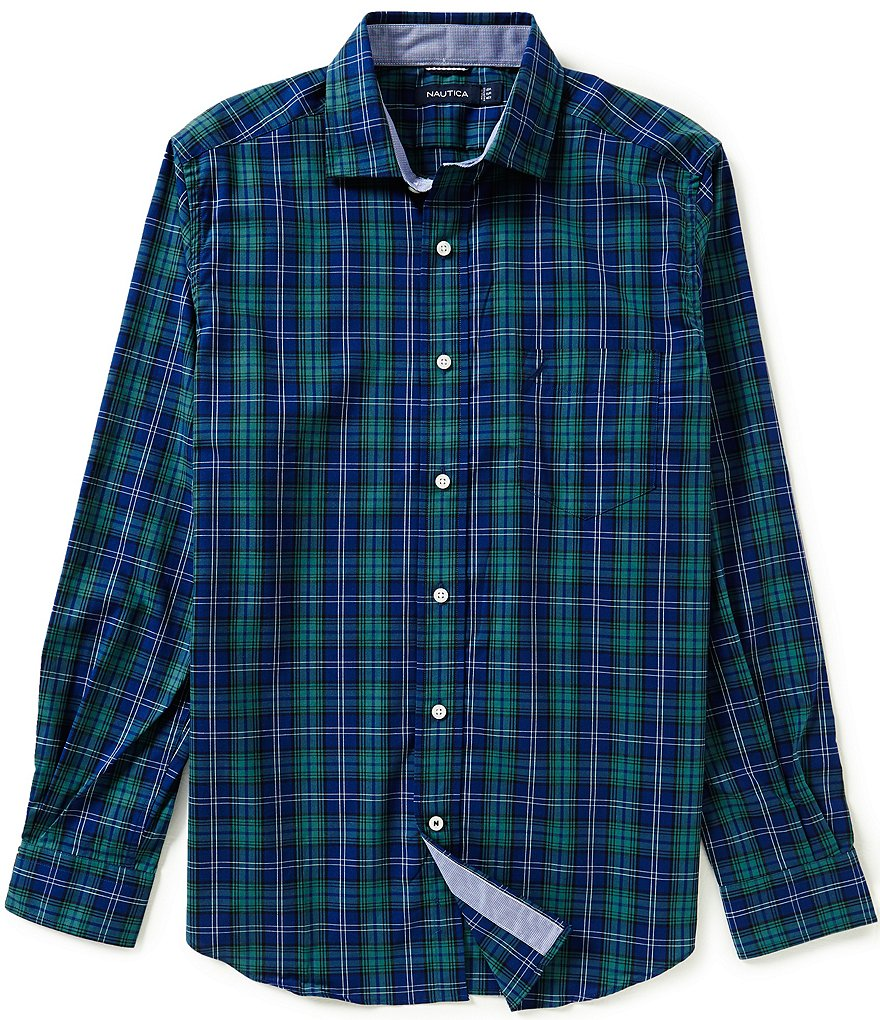 Nautica Classic-Fit Wrinkle-Resistant Estate Plaid Shirt