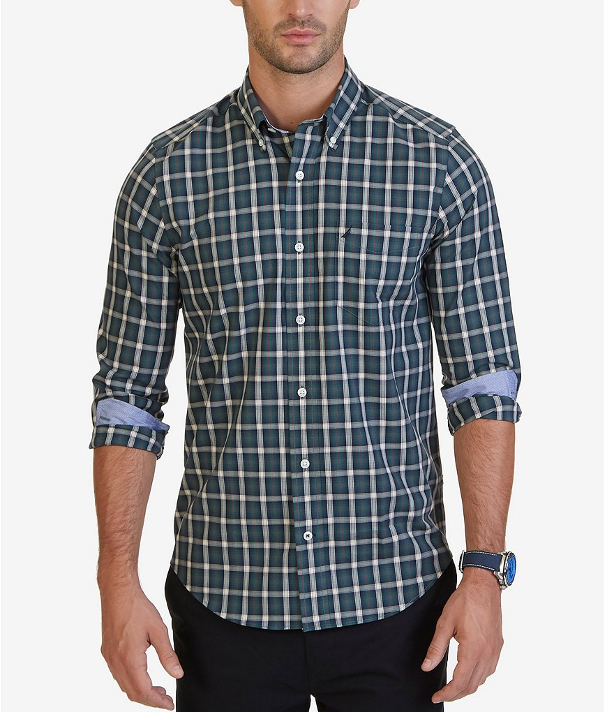 Nautica Classic-Fit Wrinkle-Resistant Lakeside Plaid Shirt