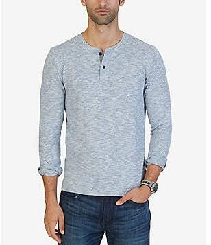 Nautica Slim Fit Long-Sleeve Henley