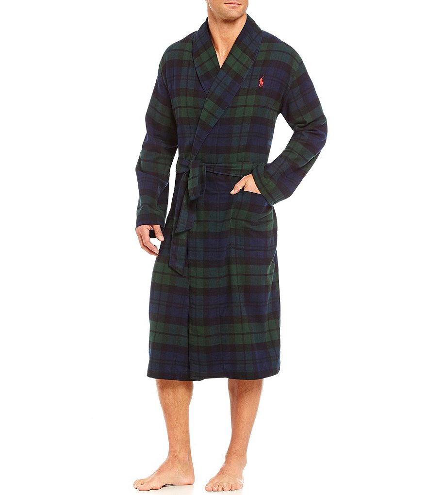 Polo Ralph Lauren Blackwatch Tartan Flannel Robe