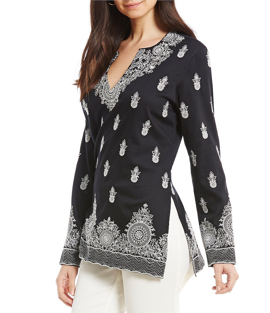 Sigrid Olsen Signature Embroidered Tunic