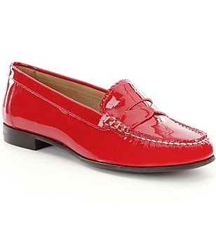 Jack Rogers Quinn Patent Leather Scalloped Loafers