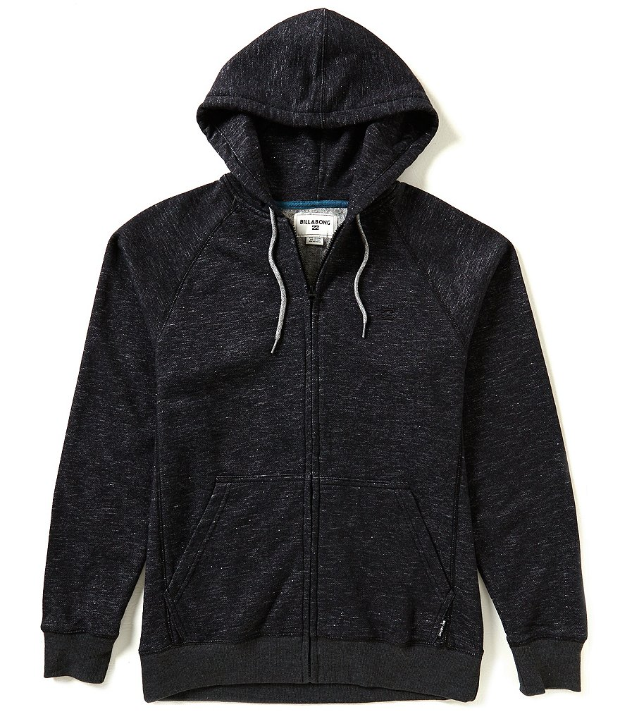 Billabong Balance Twill Slub Fleece Zip-Front Hoodie