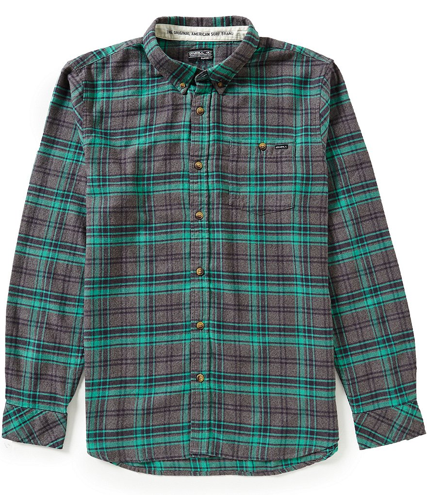 O´Neill Redmond Long-Sleeve Plaid Flannel Shirt