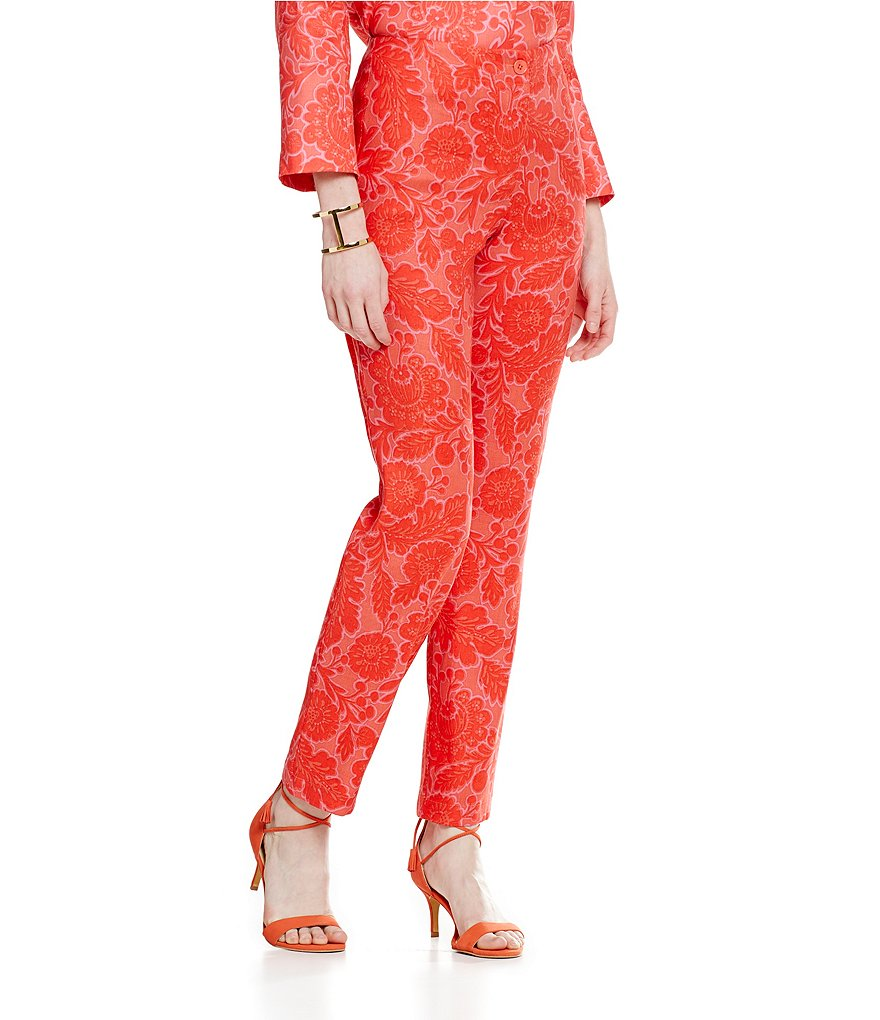 Sigrid Olsen Signature Easy Leg Printed Pants