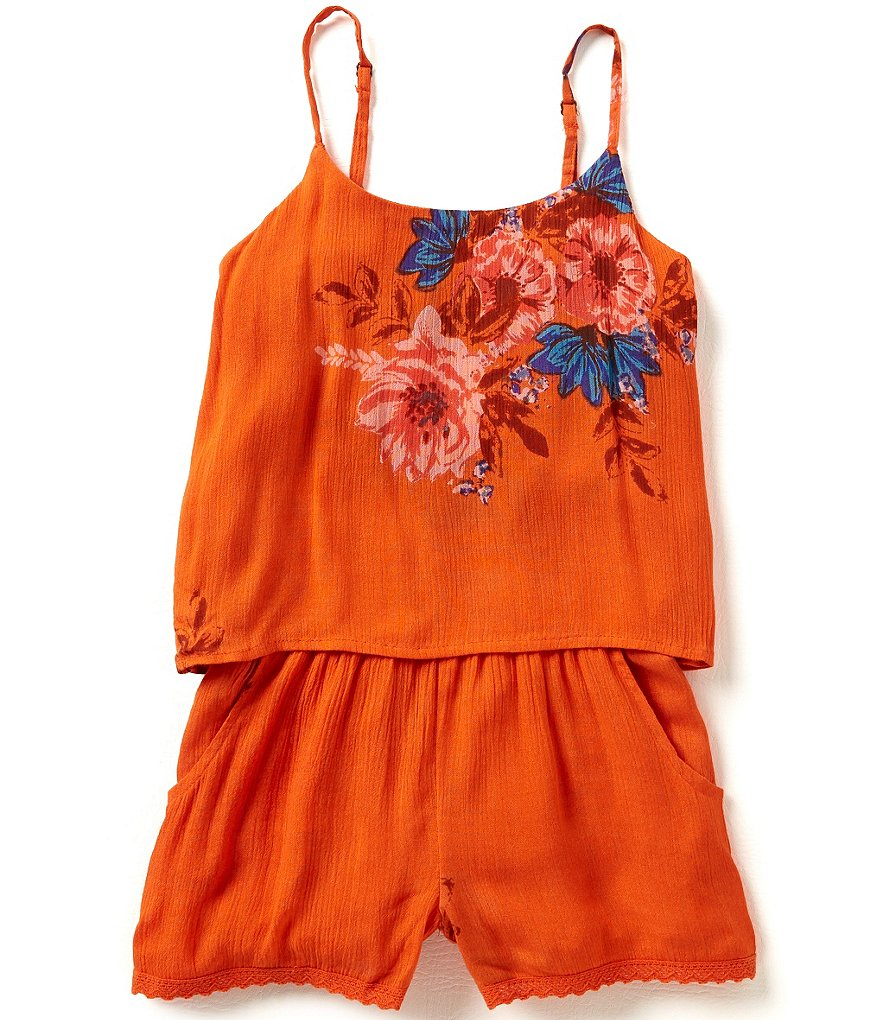 O´Neill Big Girls 7-16 Josephine Floral-Printed Crinkle Gauze Romper
