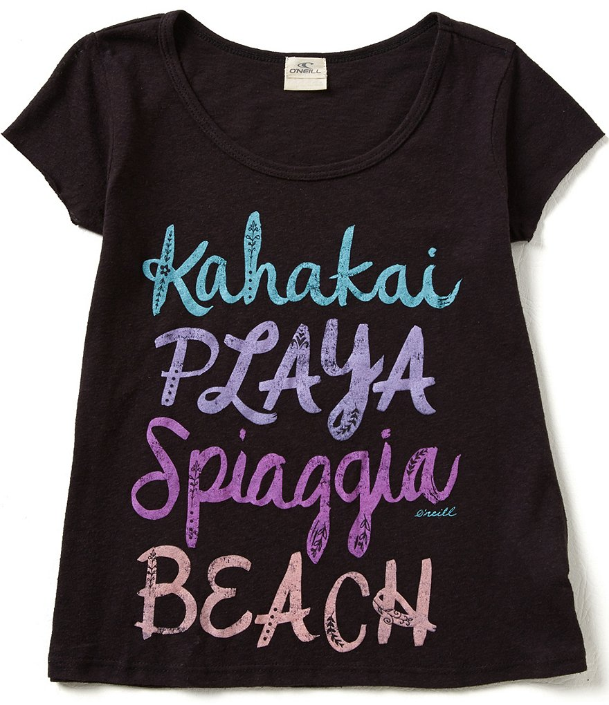 O´Neill Big Girls 7-16 Playa Short-Sleeve Tee