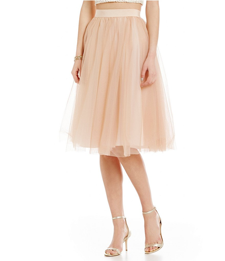 Belle Badgley Mischka Nevada Tulle Skirt
