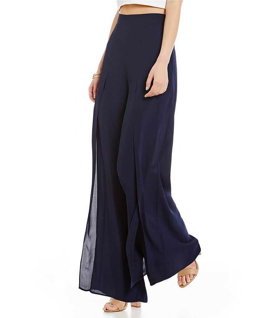 Belle Badgley Mischka Wide-Leg North Pants