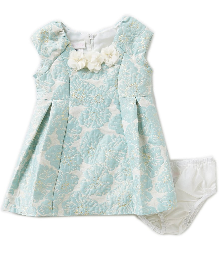 Bonnie Baby Baby Girls 12-24 Months Floral Jacquard Dress
