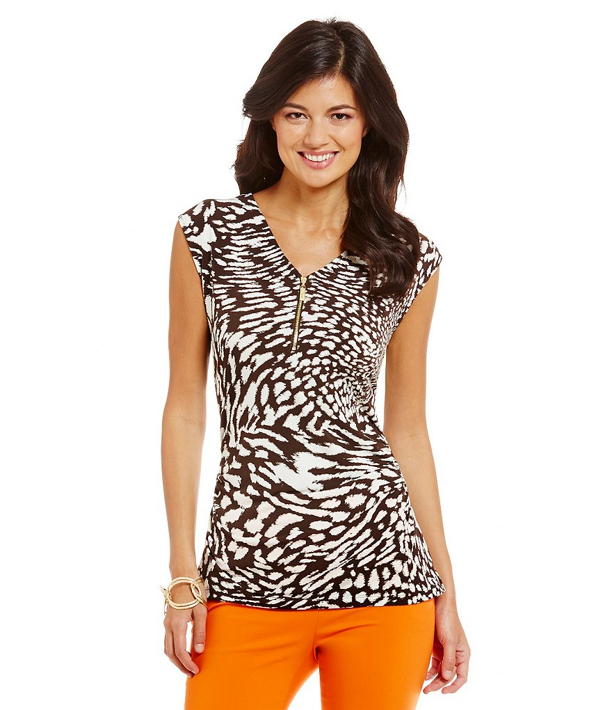 Preston & York Dakota Animal-Print Knit Top