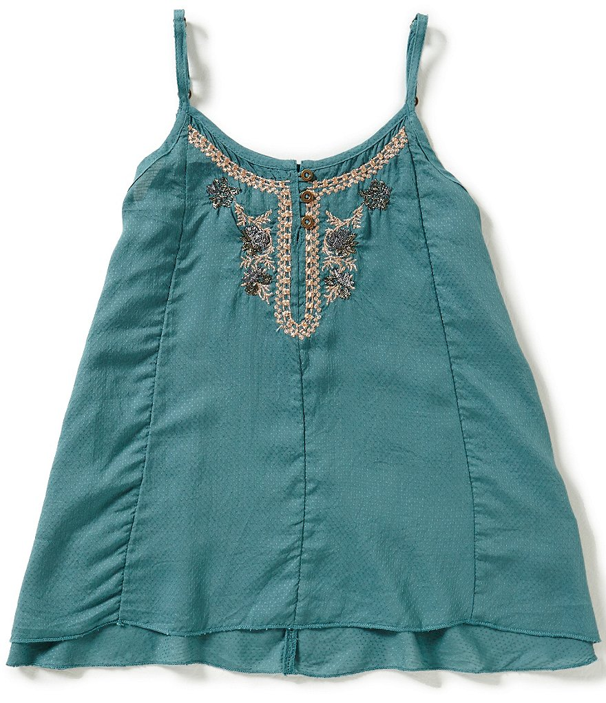 O´Neill Big Girls 7-16 Cassidy Embroidered Tank Top