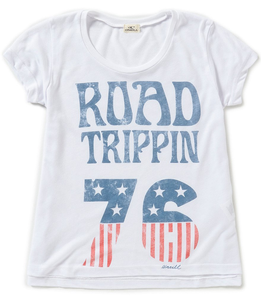 O´Neill Big Girls 7-16 Road Wandering Graphic Tee