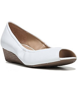 Naturalizer Contrast Peep Toe Wedges