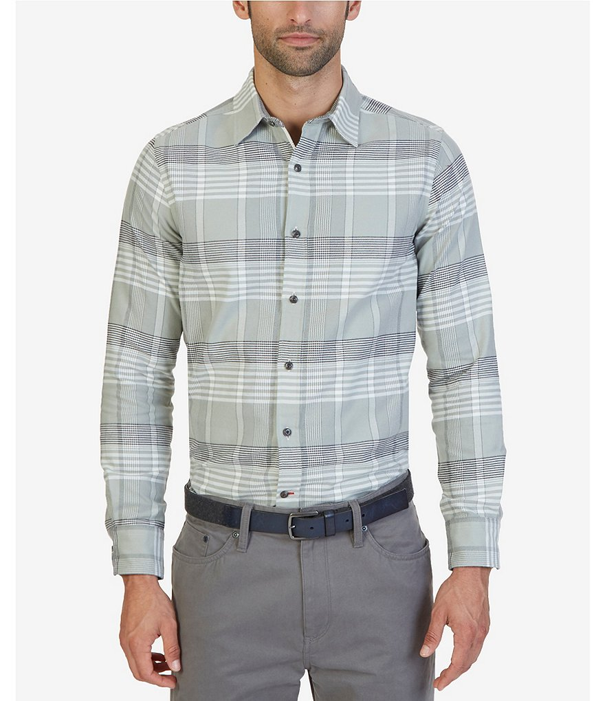 Nautica Seashore Plaid Slim-Fit Oxford Shirt