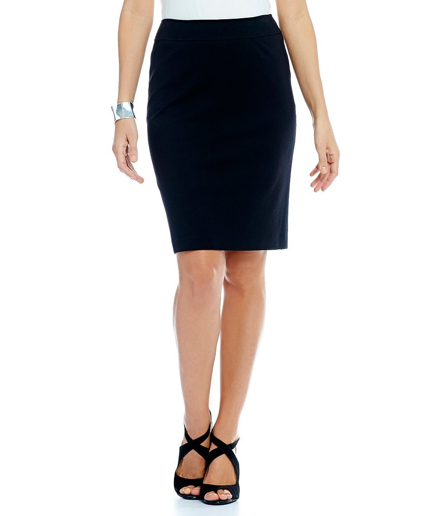 Tahari ASL Ponte Straight Pencil Skirt