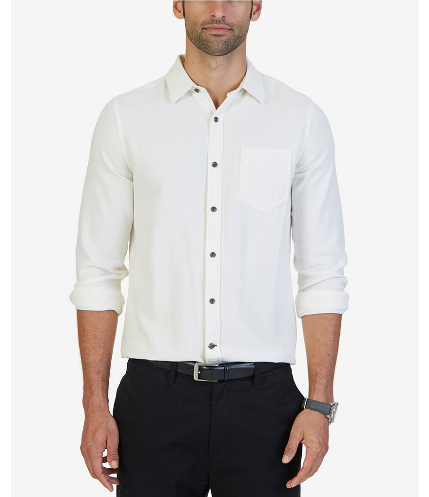 Nautica Slim-Fit Solid Dobby Shirt