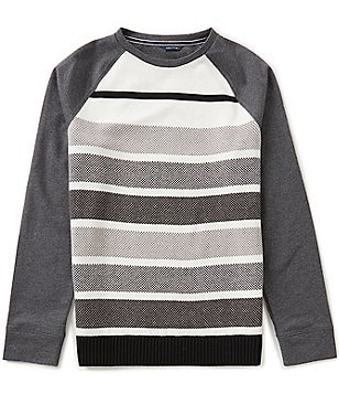 Nautica Panel Horizontal-Stripe Crewneck Sweater