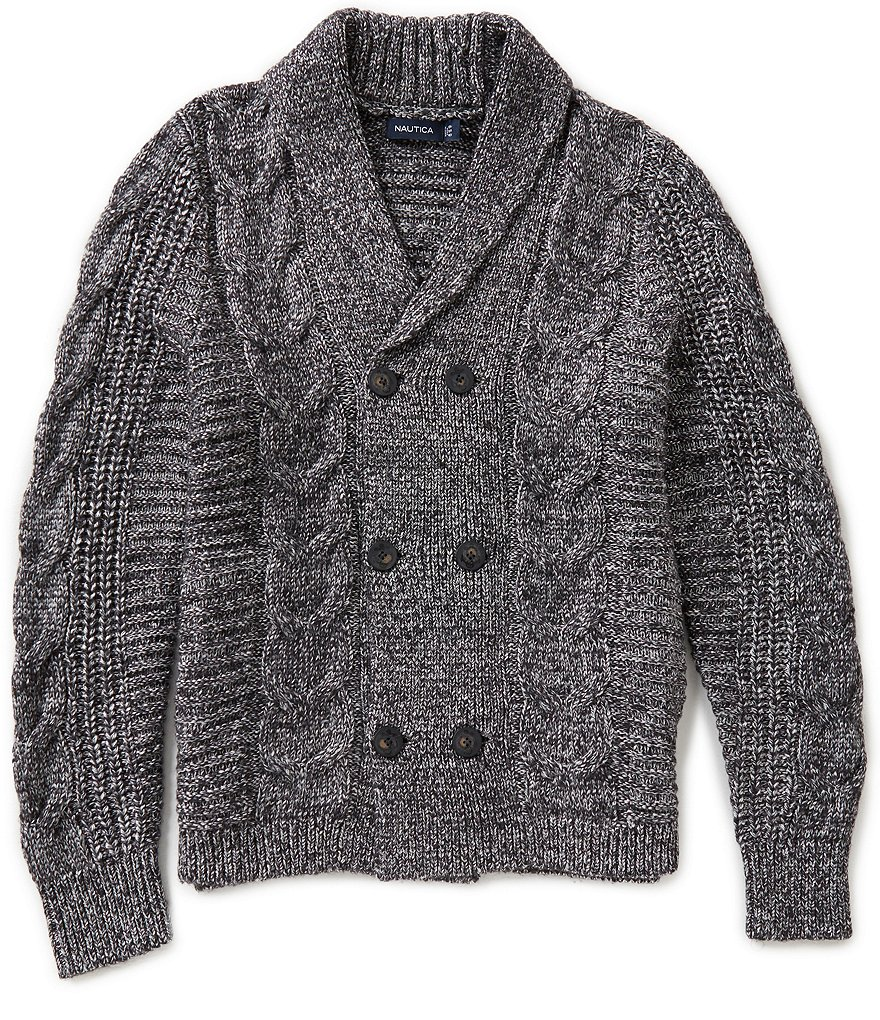 Nautica Cable-Knit Shawl Collar Sweater