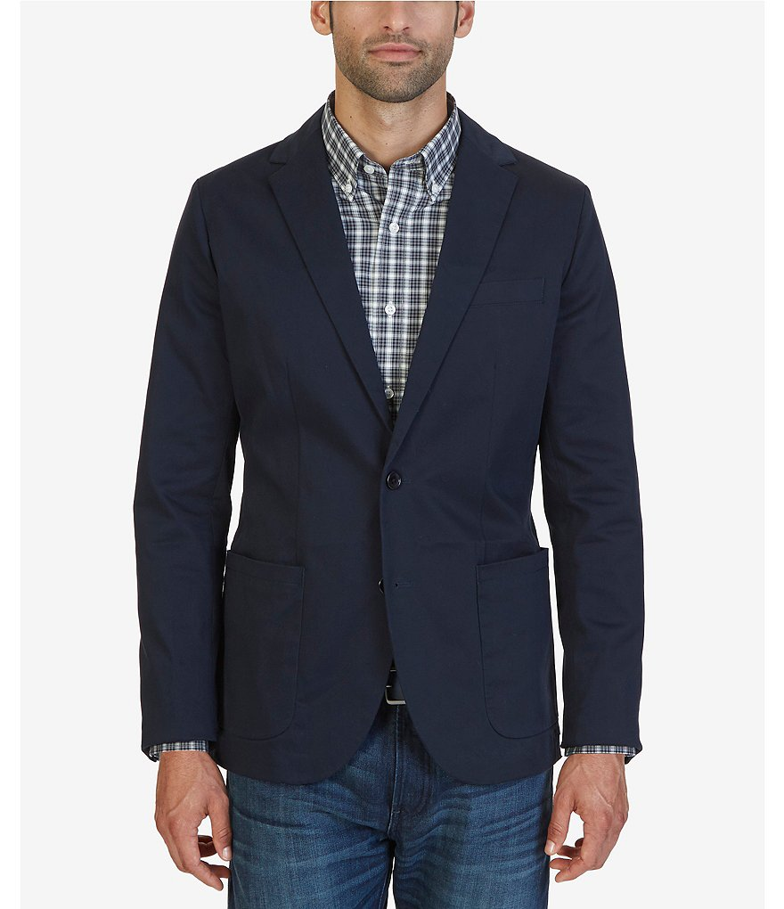 Nautica Notched-Lapel Blazer