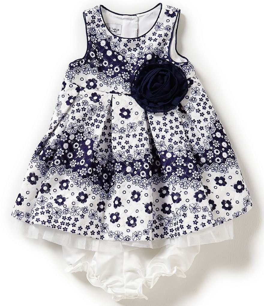 Pippa & Julie Baby Girls 12-24 Months Floral-Printed Lace Dress
