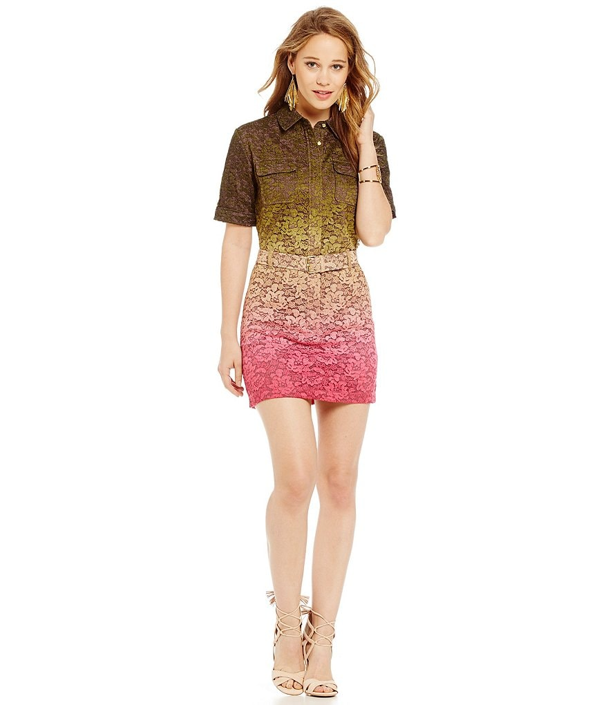 Juicy Couture Ombre Lace Military Dress
