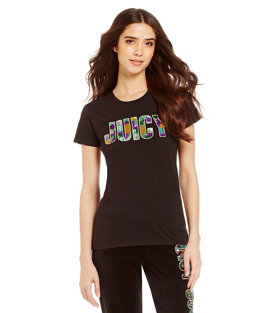Juicy Couture Sequin Couture Short Sleeve Tee