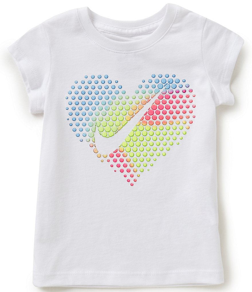 Nike Baby Girls 12-24 Months Pop Heart Short-Sleeve Tee