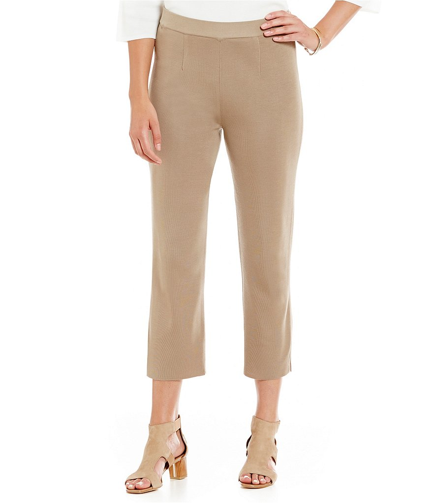Misook Knit Straight Ankle Pants