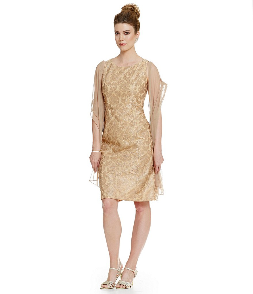 Alex Evenings Sleeveless Stretch Tulle Lace Party Dress