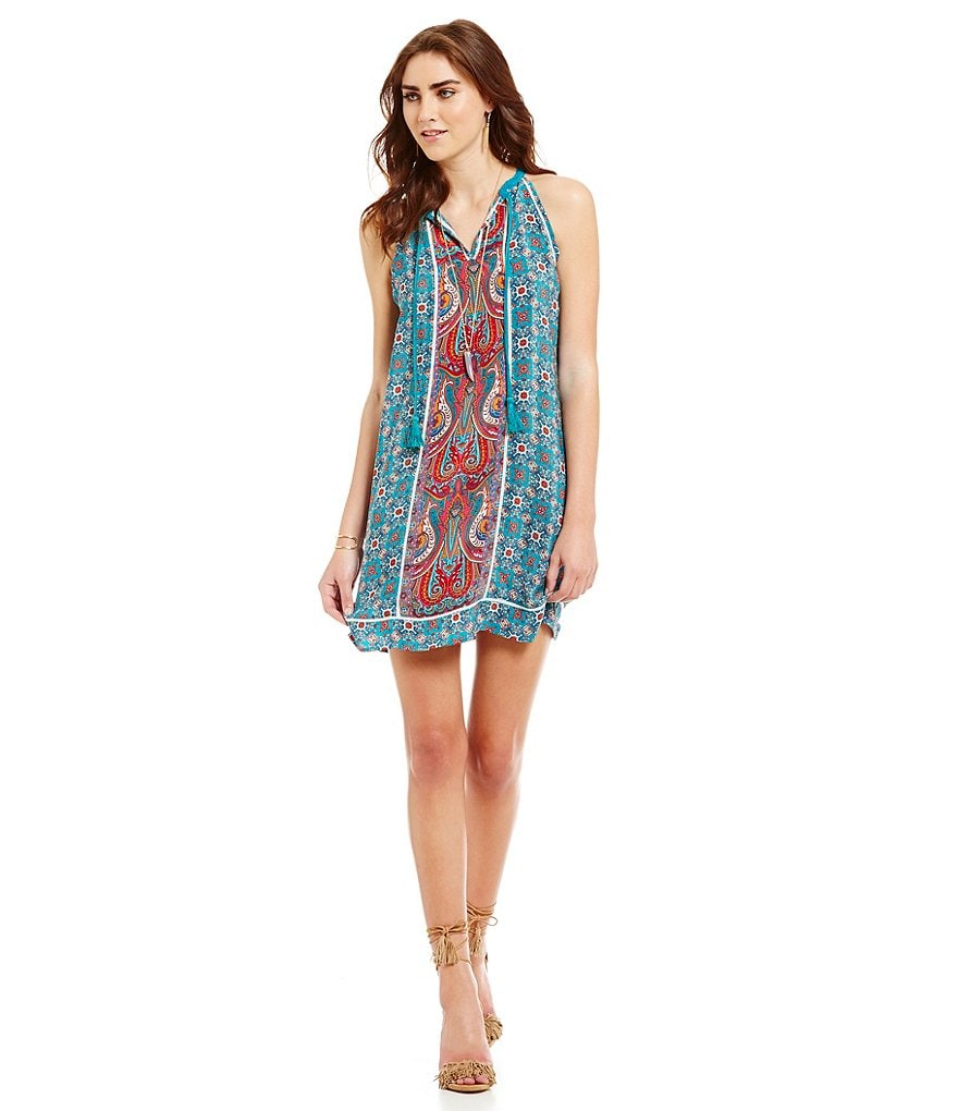 Tolani Savannah Sleeveless Tassel Dress