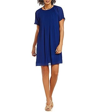 MICHAEL Michael Kors Pleated Georgette A-Line Dress