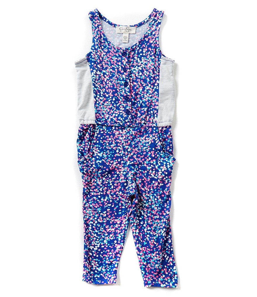 Jessica Simpson Little Girls 2T-6X Belen Printed Jumpsuit