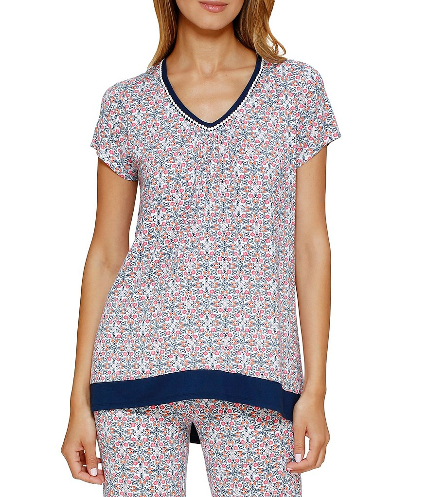 Anne Klein Geometric Sleep Top