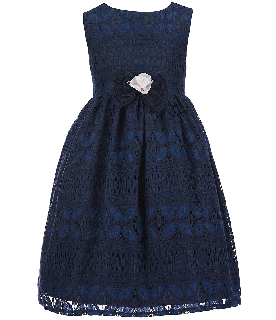 Laura Ashley London Little Girls 2T-6X Lace-Overlay Dress