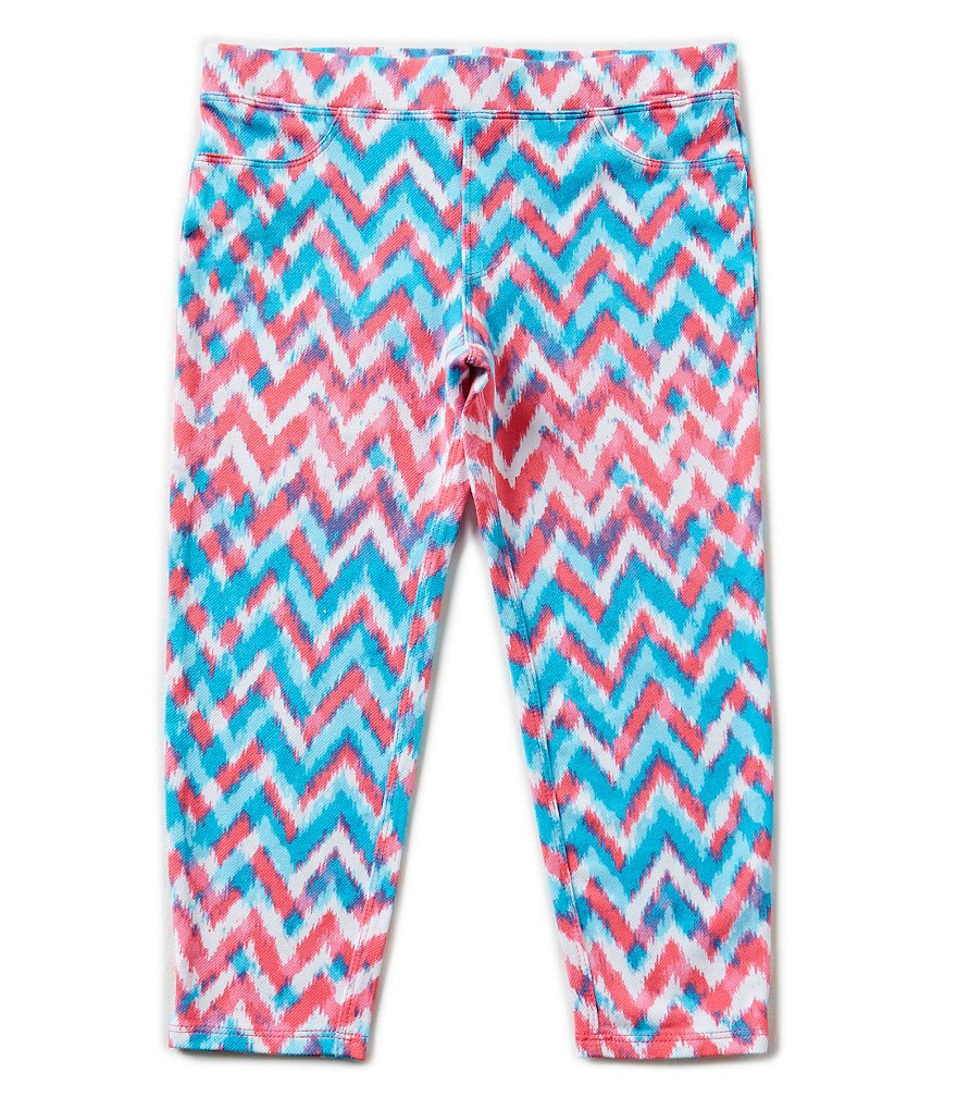 Jessica Simpson Big Girls 7-16 Carra Chevron Printed Capri Pants