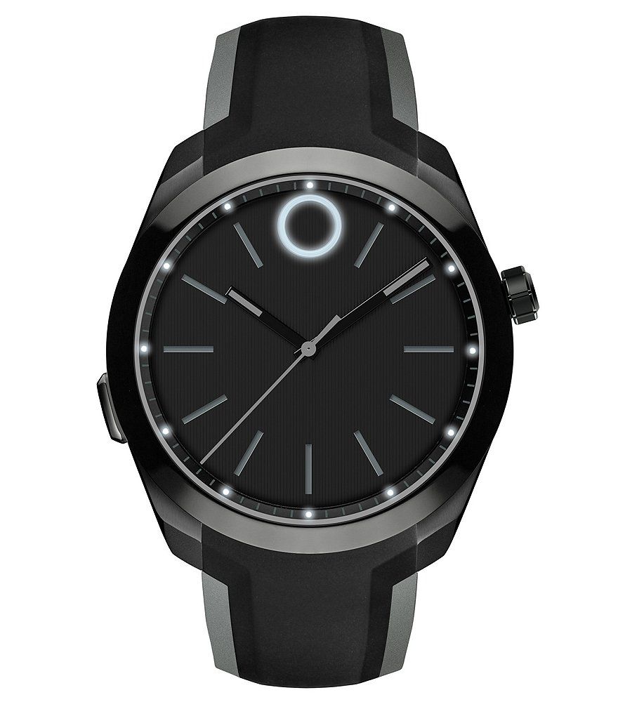 Movado Bold Motion Silicone Strap Stainless Steel Smart Watch