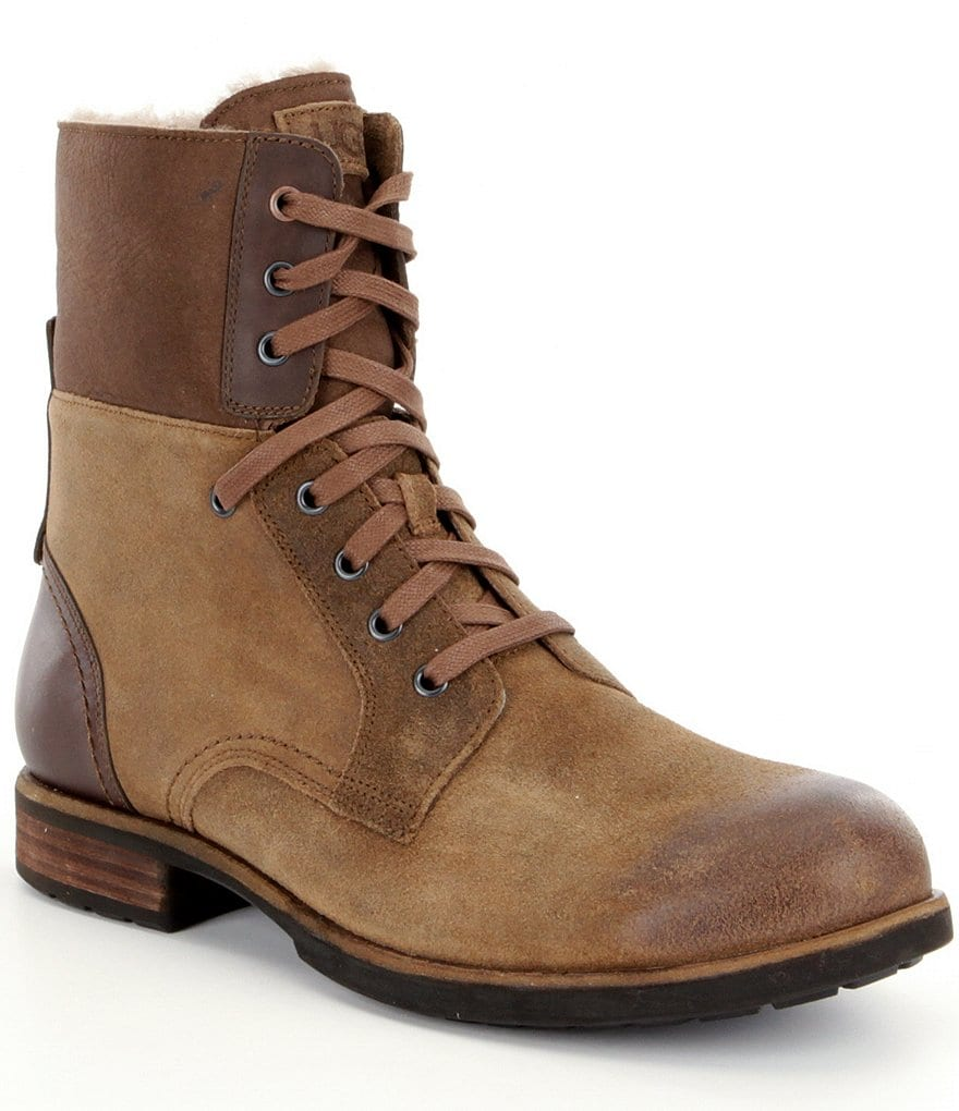 UGG® Larus Suede/Leather Lace-Up Boots