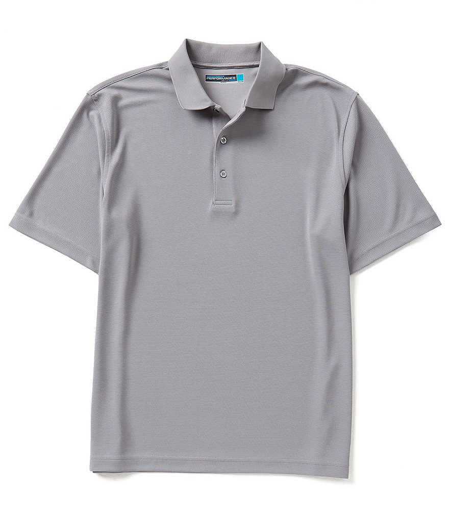 Roundtree & Yorke Performance Big & Tall Short Sleeve Solid Ottoman Polo