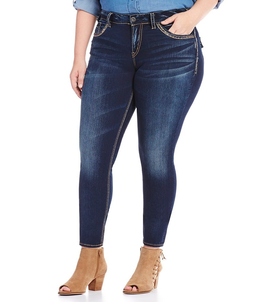 Silver Jeans Co. Plus Suki Mid Skinny Jeans