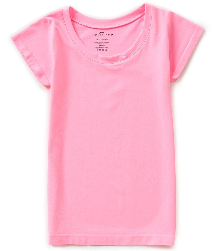 Copper Key Big Girls Seamless Crew Neck Tee
