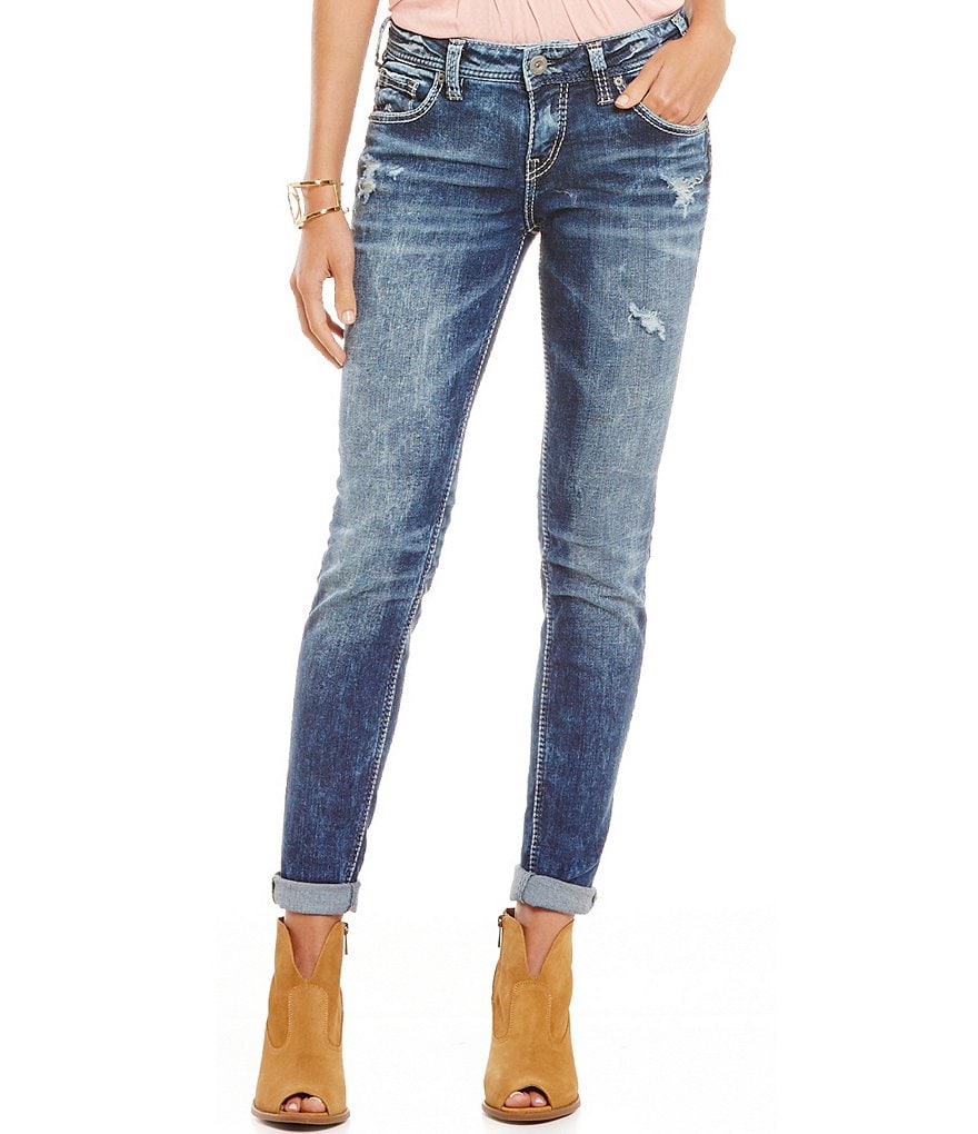 Silver Jeans Co. Clean Distressed Boyfriend Jeans