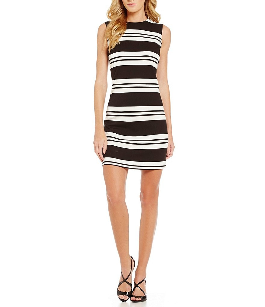 Calvin Klein Double Stripe Ponte Sheath Dress