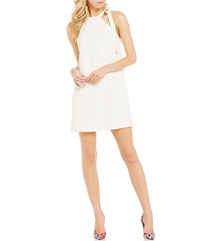 Guess Emberlyn Bow Tie Neck Dress