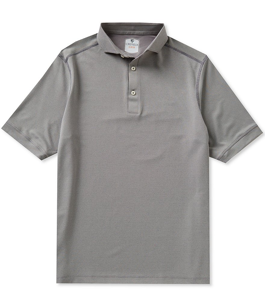Cremieux Club 38 Short-Sleeve Performance Solid Polo Shirt