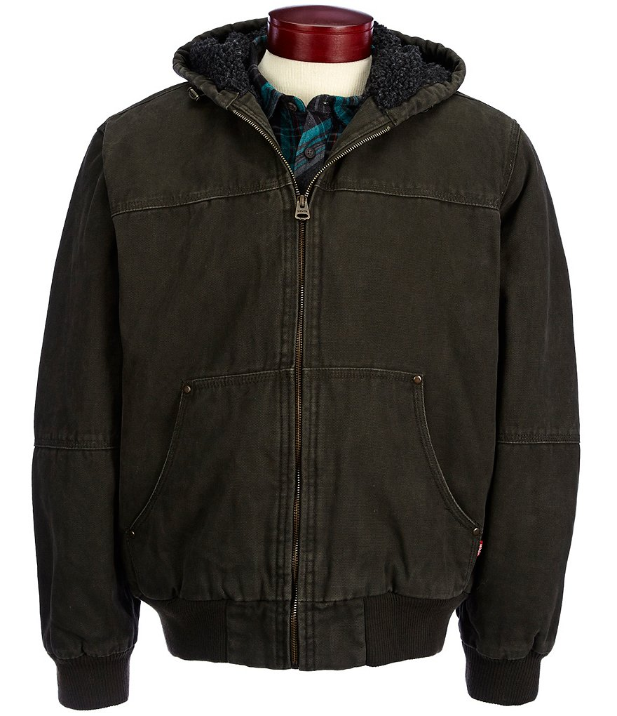 Levi's® Faux-Sherpa Hooded Bomber Jacket