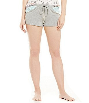 PJ Salvage Solid Sorbet Stretch Jersey Sleep Shorts