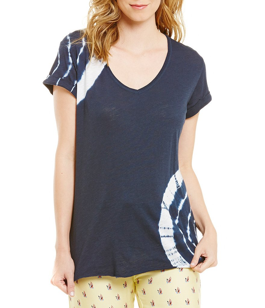PJ Salvage Road Trip Tie-Dye Slub Jersey Sleep Top