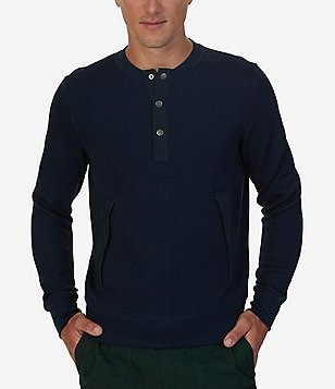 Nautica Active Fit Henley Sweatshirt